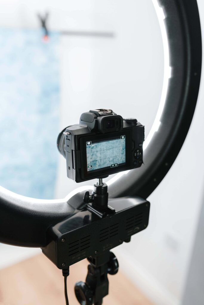 éclairage ring light pour appareil photo reflex