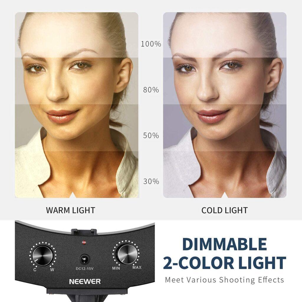 Neewer Kit Ring Light LED Couleur