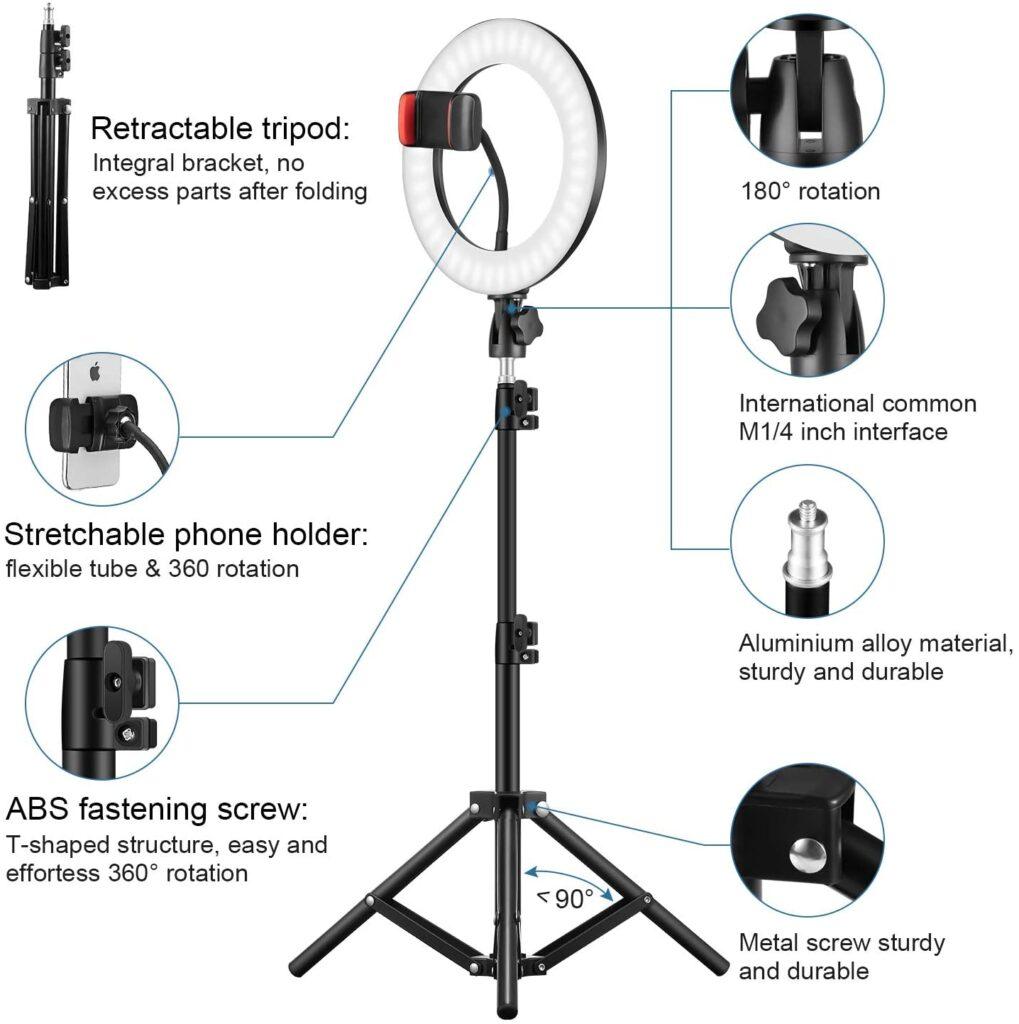 Selfie Ring Light LED LAVKOW utilisation