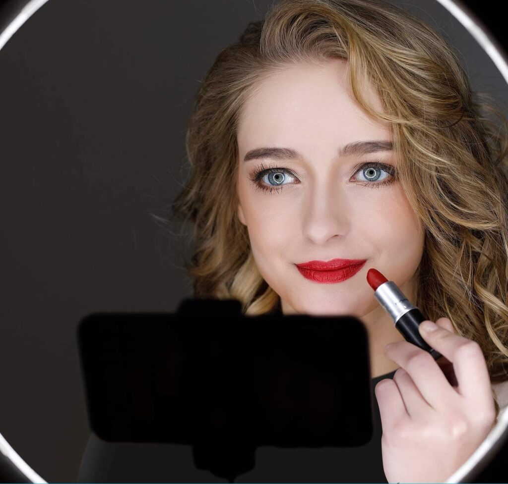Ring light maquillage