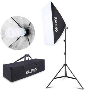 Softbox Eclairage Vidéo, RALENO 50x70 cm kit de Studio d'éclairage pour Photo
